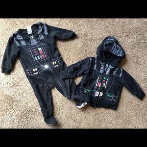 Star Wars Darth Vader sleeper and hoodie